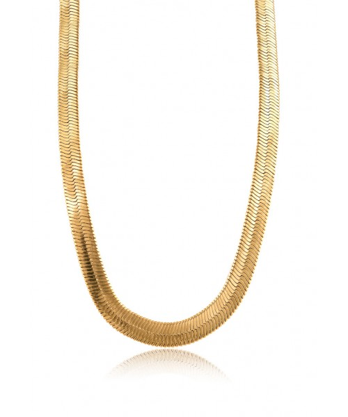 MÉRBABE -  24K FARAH BOLD SNAKE CHAIN NECKLACE
