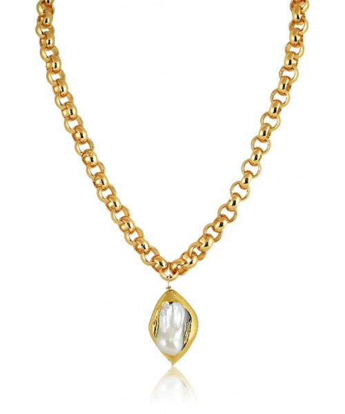 MÉRBABE - 24K VIRGINIA PEARLY CHAIN NECKLACE