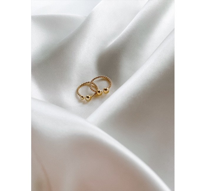 BIG BEADS GOLD RING RINGS R08