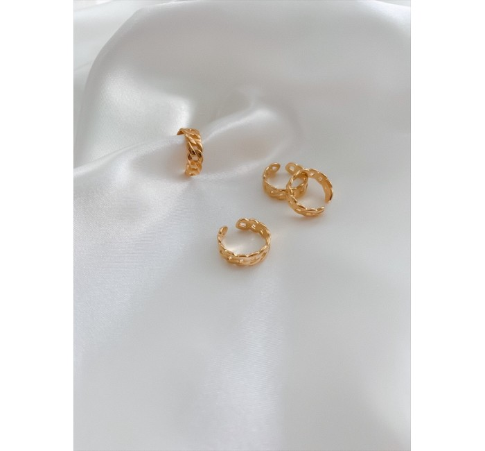 CHAIN LINK GOLD RING RINGS R06